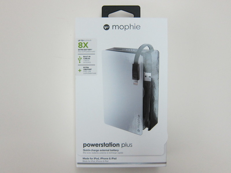 Mophie Powerstation Plus (12,000mAh) - Box Front