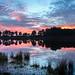 Sunset Allardsoog Friesland Netherlands by Reina Smallenbroek