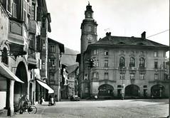 postcard - bolzano - piazza municipio - 1961