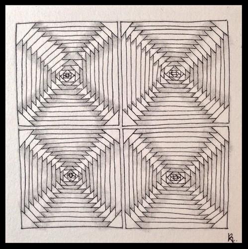 Zentangle 103 for joey's weekly tangle challenge #81
