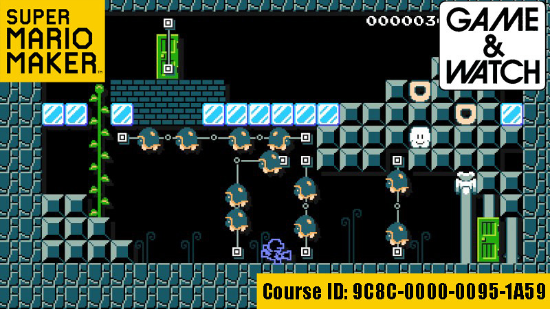 Super Mario Maker Course: Game & Watch Collection