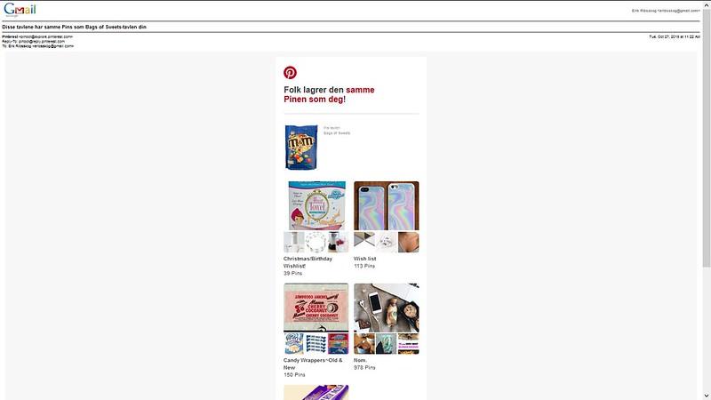 nettbutikker populære på pinterest