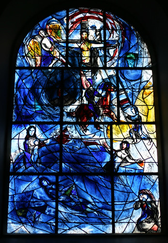 East Window by Marc Chagall, All Saints,  Tudeley, Kent