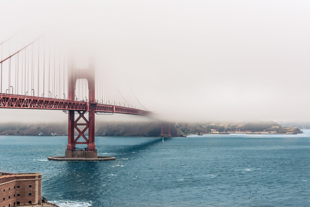 Foggy day at Golden Gate Bridge