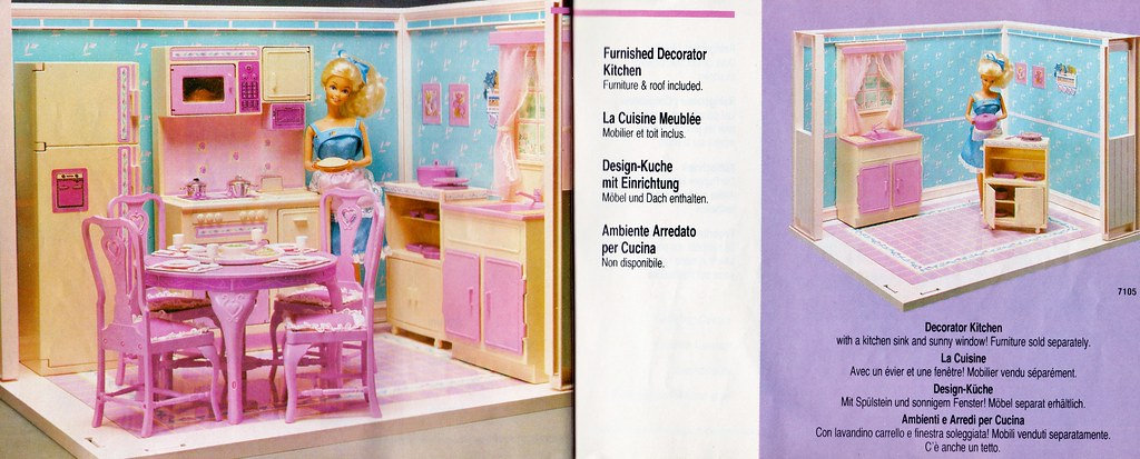 living pretty barbie furnished decorator kitchen