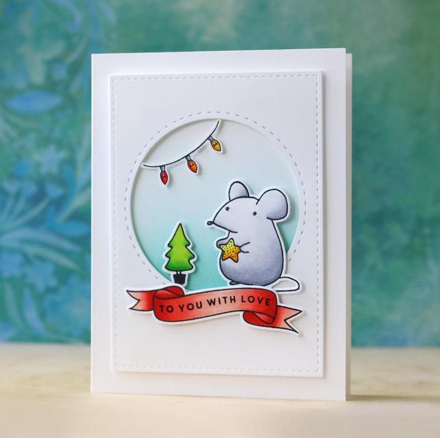 Mama Elephant-Festive Mice
