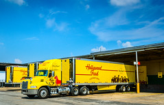 Hollywood Feed Mack Pinnacle pulls away from the loading dock in Memphis Tennessee