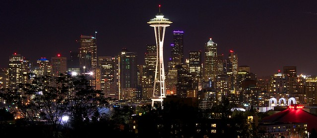 Classic Seattle night shot - Space Needle