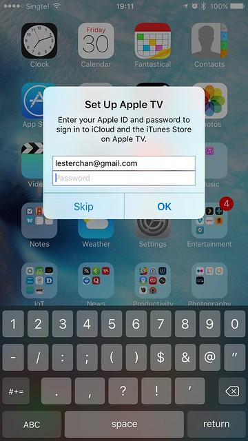 Apple TV (4th Generation) - iPhone Setup