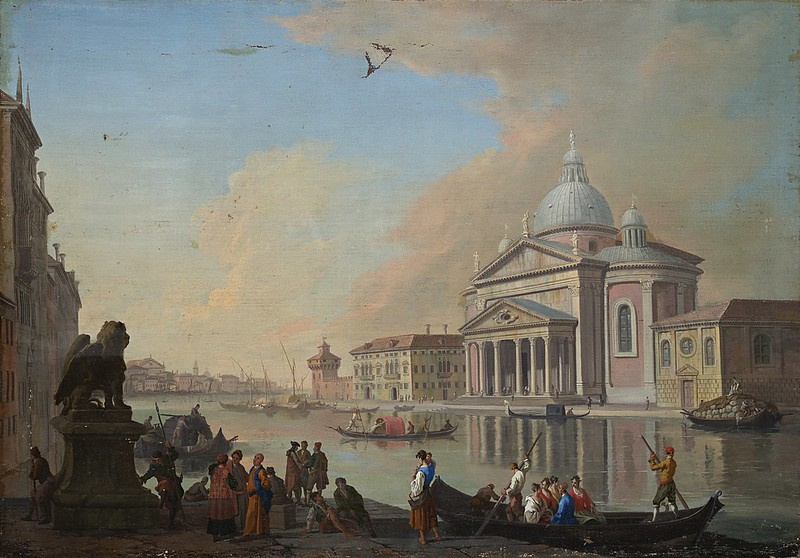 Johan Richter - View of the Grand Canal with the Church of Salute and the Punta della Dogana