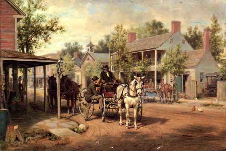 Horse and Buggy on Main Street by Edward Lamson Henry - 1889