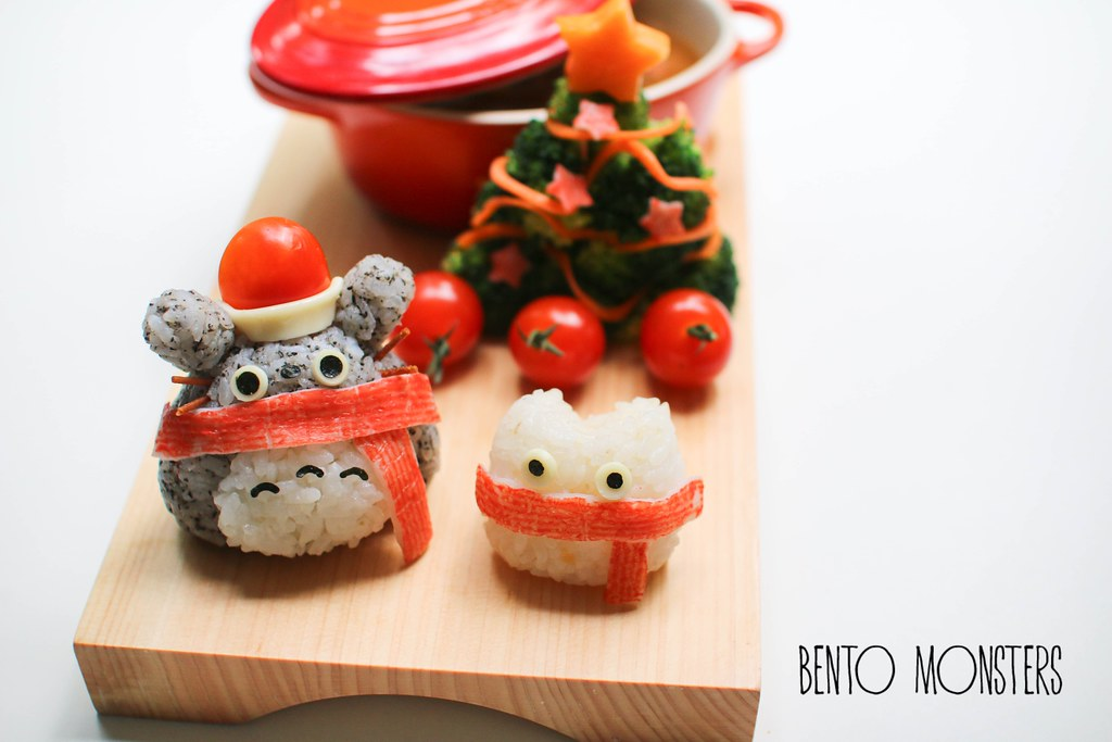 Totoro Christmas Food Art Bento Monsters