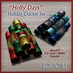 "@ Twisted Krissmuss ~ [CIRCA] - ""Holly Days"" - Holiday Cracker Set of 2"