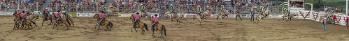 cowtown rodeo horse bucking bronco event multipleexposures