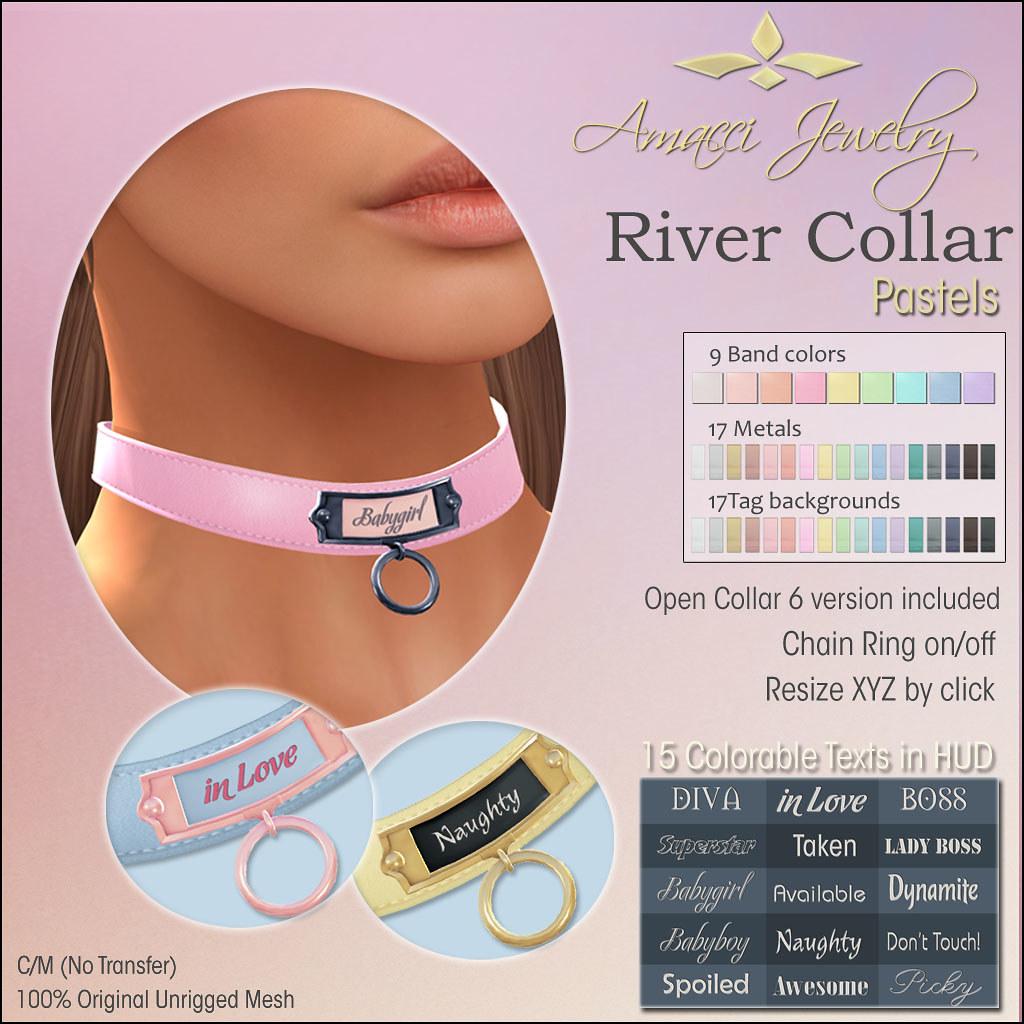 Amacci River Collar (Pastel) - SecondLifeHub.com