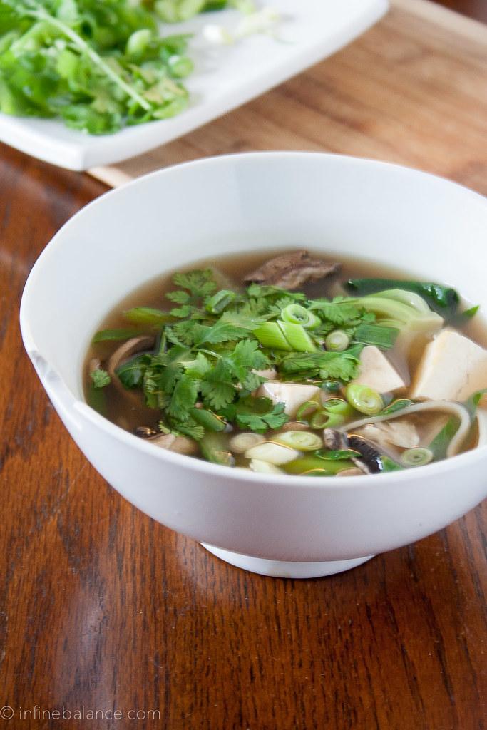 Tofu Noodle Soup | www.infinebalance.com #recipe #vegetarian