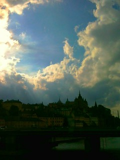 Stockholm under the clouds..