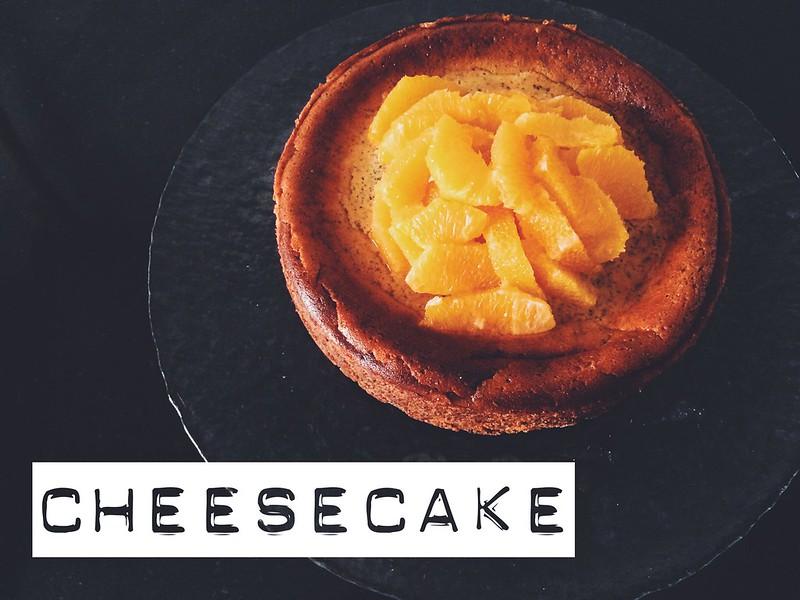 Orange poppy seed cheesecake