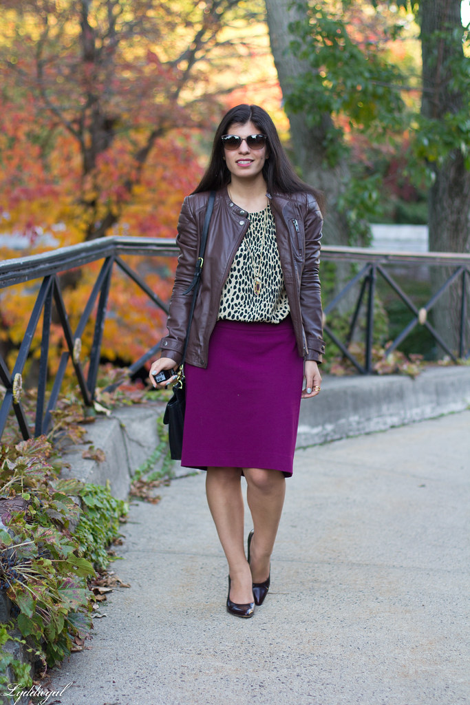 purple pencil skirt, leopard blouse, leather jacket-3.jpg
