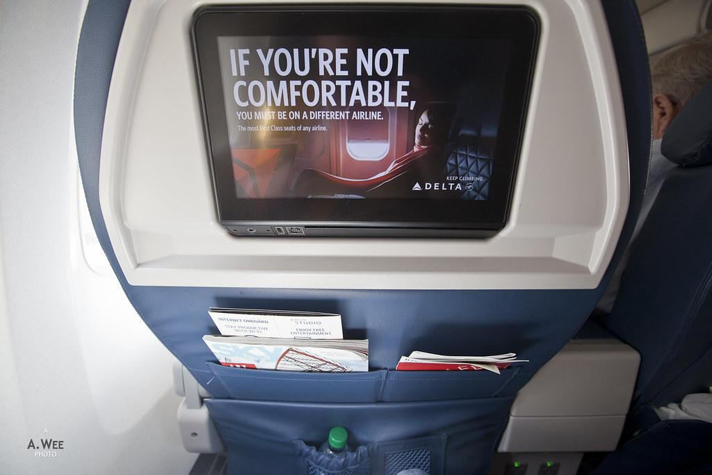 First Class seatback