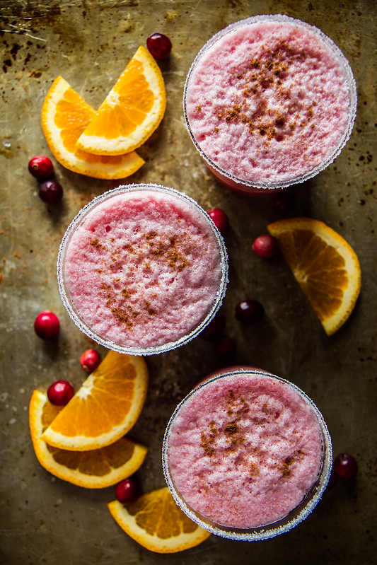 Orange Cranberry Blended Margaritas