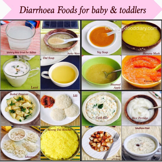 Diarrhea foods for baby & toddlers