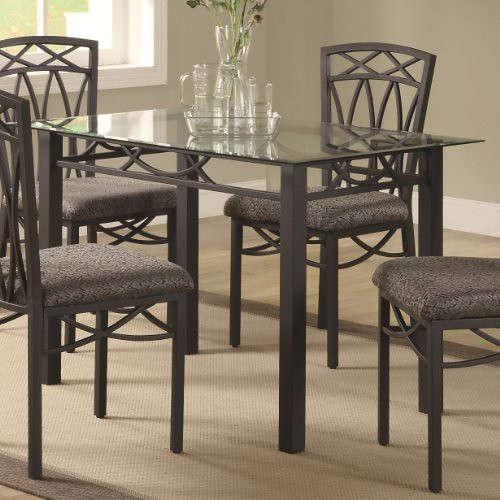 Coaster Home Furnishings Transitional Dining Table, Black