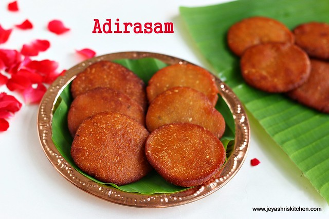 ADHIRASAM RECIPE | DIWALI SWEETS RECIPE | Jeyashri\'s Kitchen