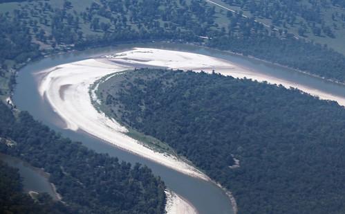 river landscape liberty texas view flight aerialview aerial meander unitedairlines windowseat fluvial trinityriver littlerocktohouston pointbar zeesstof