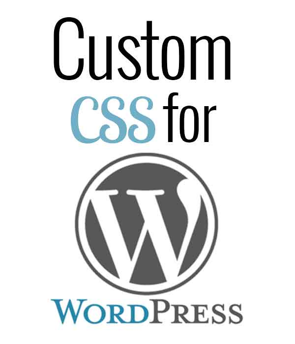 Custom CSS for WordPress by Lewis Lane