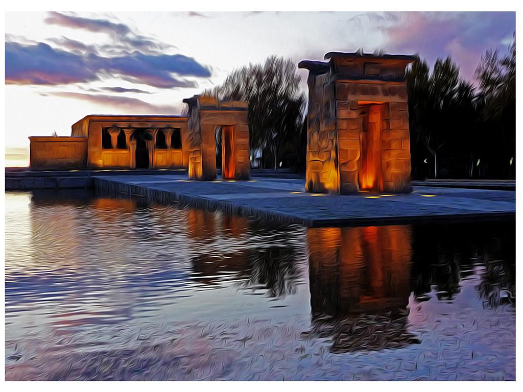 Templo de Debod al caer la tarde