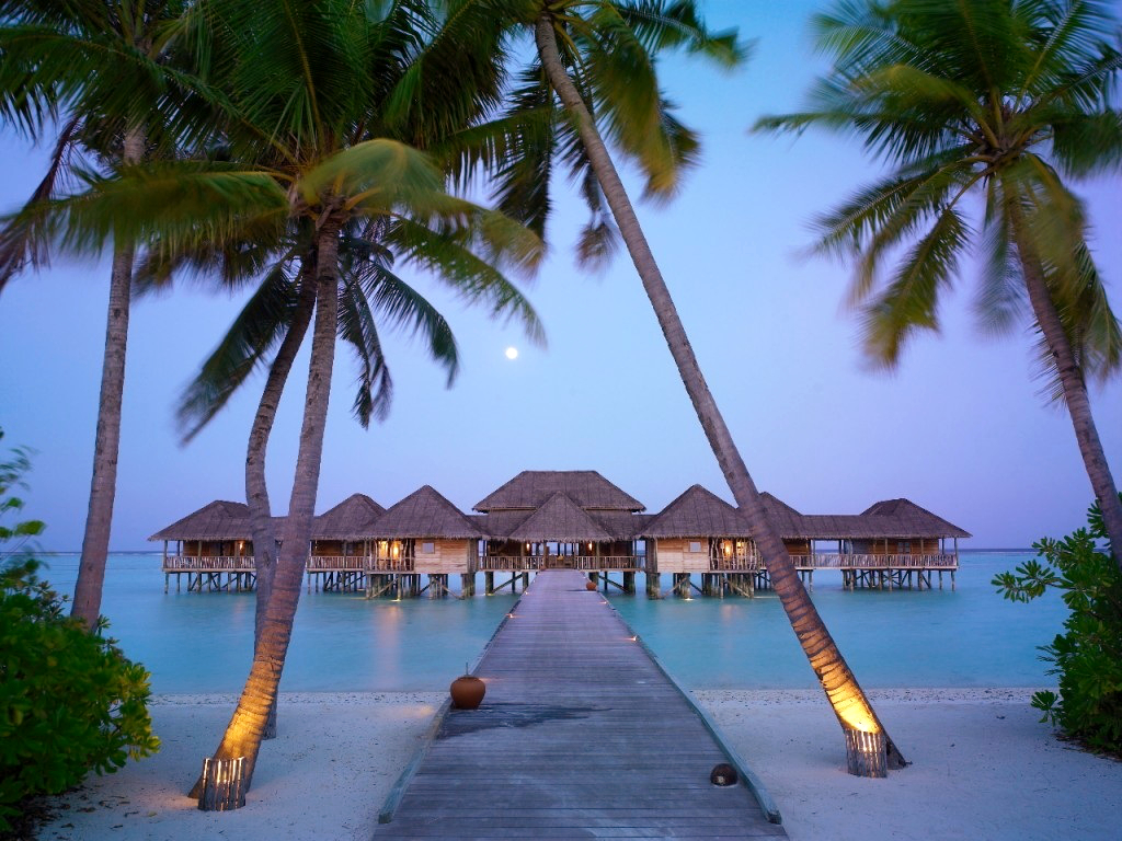 Sunset in the Maldives Islands