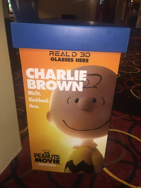 Charlie Brown 3D glasses box.
