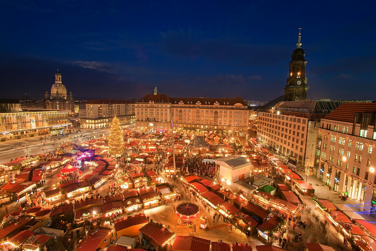 Christmas market in Dresden, Germany. Credit LH DD/Dittrich