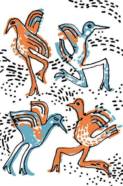 Bird Girls - card sketch