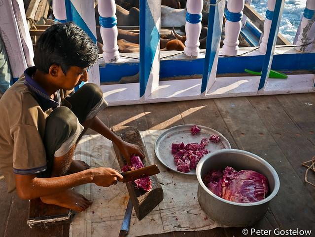 Preparing goat meat