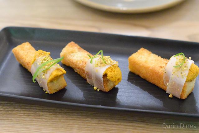 Sea Urchin Brioche, Lardo, Pistachio, Truffle Butter
