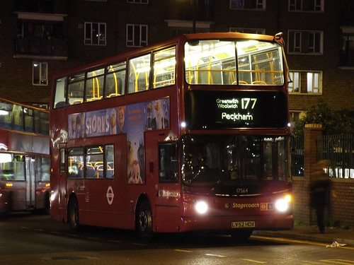 Stagecoach Selkent 17564, LV52HDX in Peckham on route 177