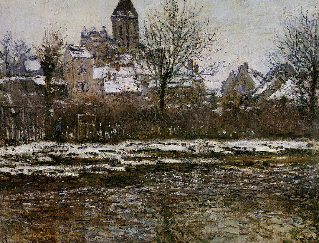 The Church at Vetheuil, Snow by Claude Oscar Monet - 1878-1879