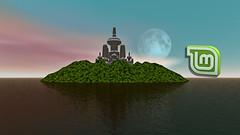 Linux Mint background image.