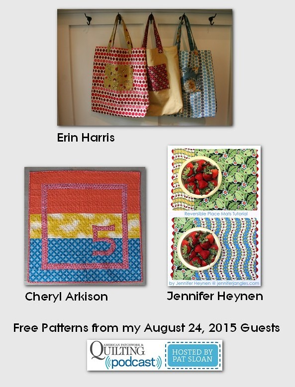 pat sloan Aug 24 2015  free patterns