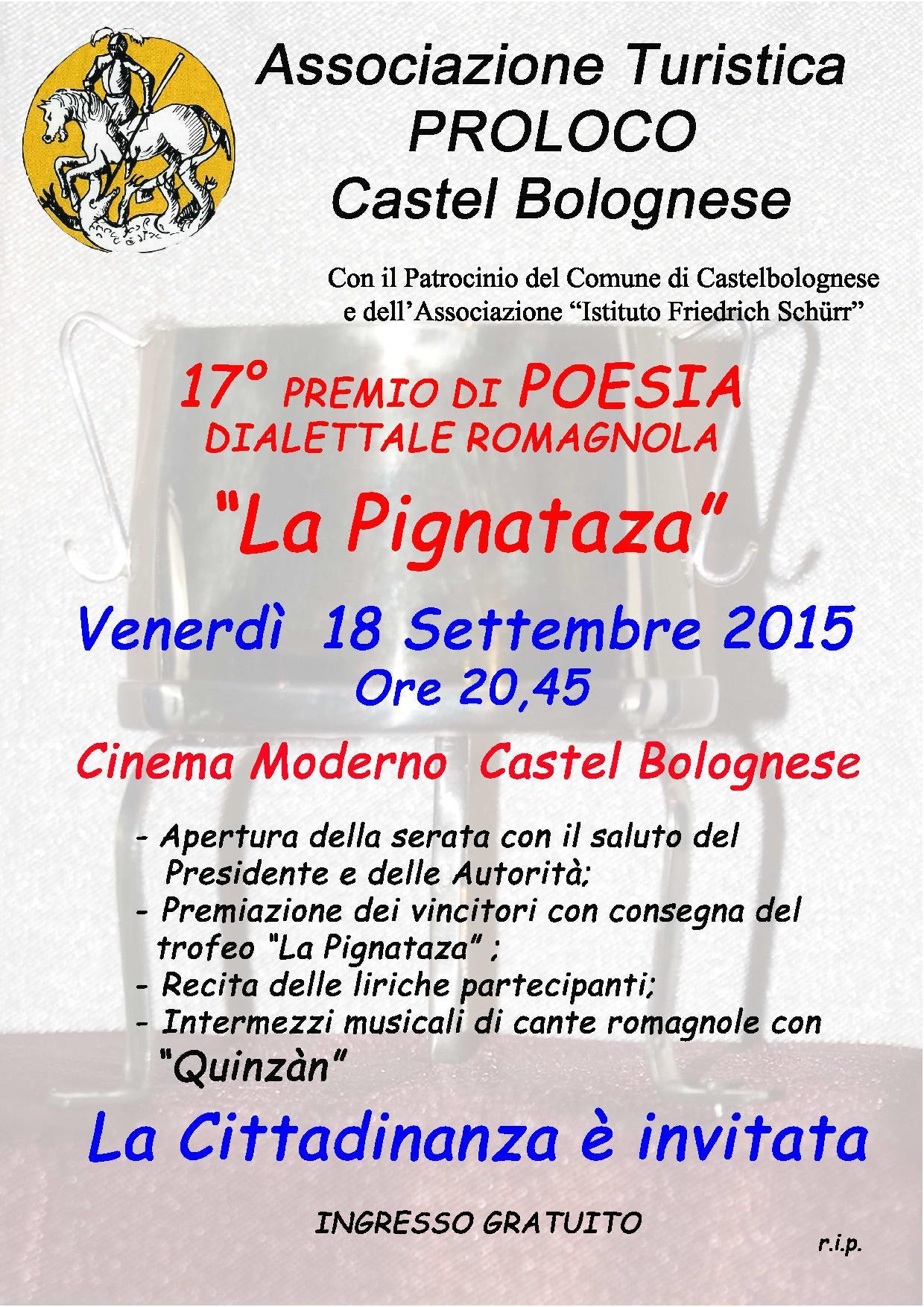 """17° Premio di Poesia """"La Pignataza"""", venerdì 18 Settembre 2015"""