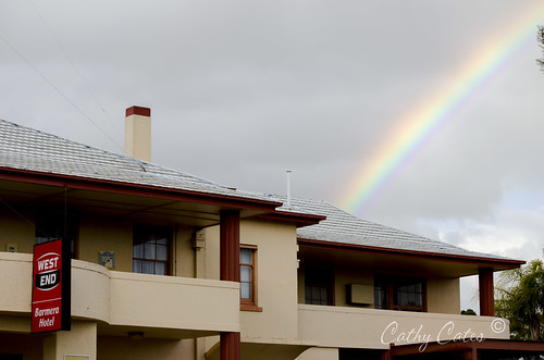 Barmera under a rainbow