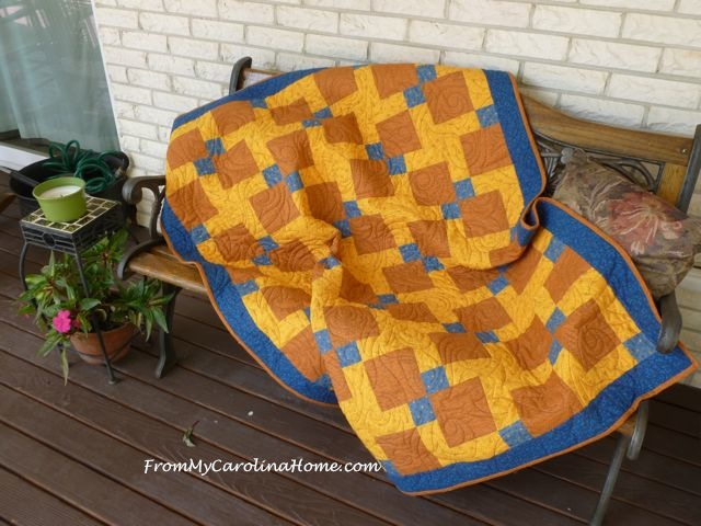 Boys Quilt finish 2