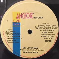 SHABBA RANKS:MR.LOVERMAN(LABEL SIDE-B)