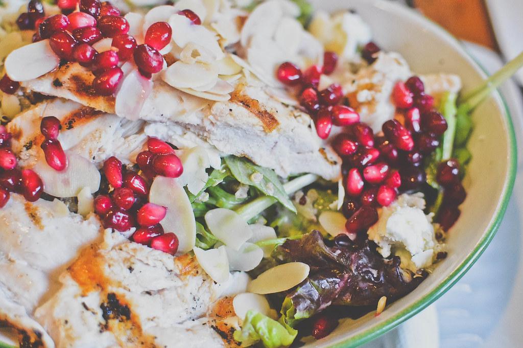 Chicken, Pomegranate & Goat Cheese Salad