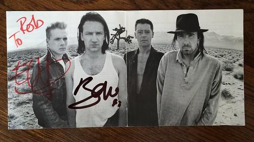 U2 - The Joshua Tree CD cover/booklet / Helden 2015