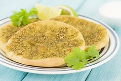 Zaatar Manakish - Flatbread with zaatar and olive…