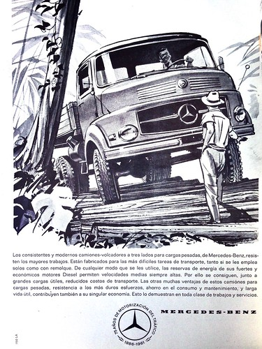 Mercedes-Benz ad - Mecánica Popular 1961