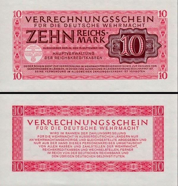 10 Reichsmark Nemecko 1944, Wehrmacht